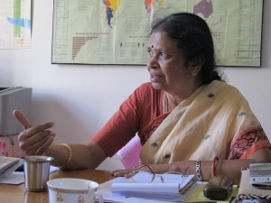 Bimla Chandrasekar, direttrice di Ekta, Resource Centre for Women, Madurai
