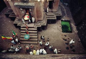 La chiesa di San Giorgio nel noto complesso monastico di Lalibela (foto K. NOMACHI/CORBIS)
