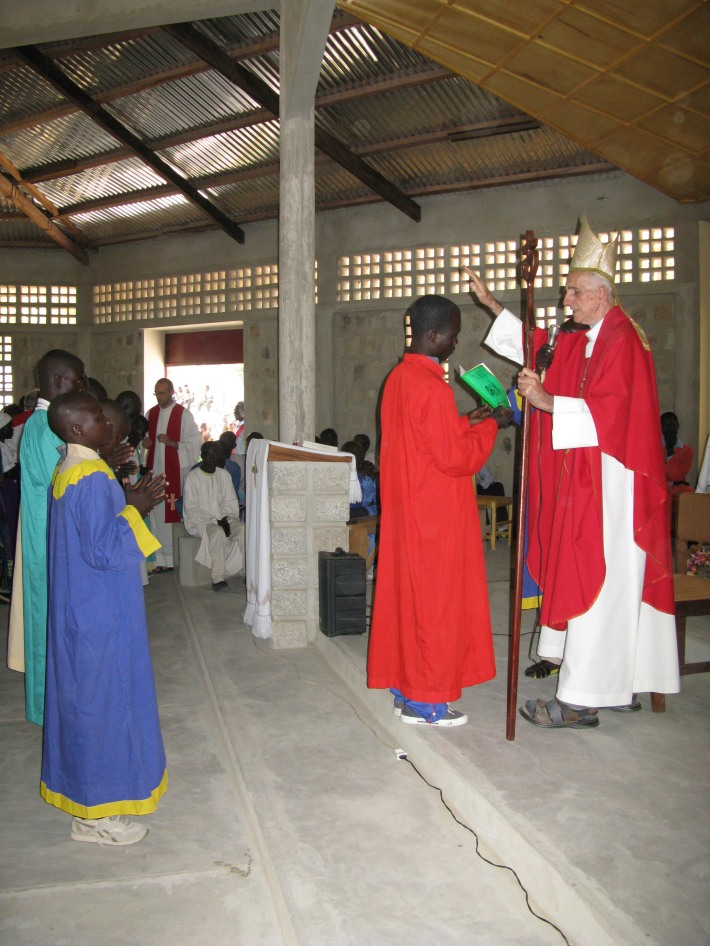 Camerun. Il vescovo di Maroua, monsignor Philippe Stevens (ph Romina Gobbo).