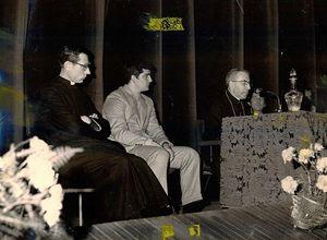 Don Luigi nel 1970, con l'allora patriarca di Venezia, mons. Albino Luciani, che nel 1978 diventerà papa Giovanni Paolo I
