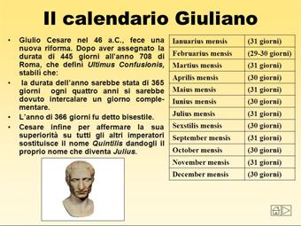 Il Calendario Giuliano.Il Calendario Giuliano Scriptandclick