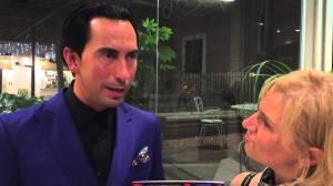 Con Romina Gobbo durante l'intervista