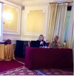 Io e Adriana Vicentini, presidente del Club Inner Wheel di Verona
