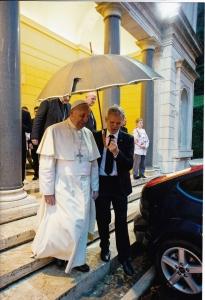 Sergio con papa Francesco